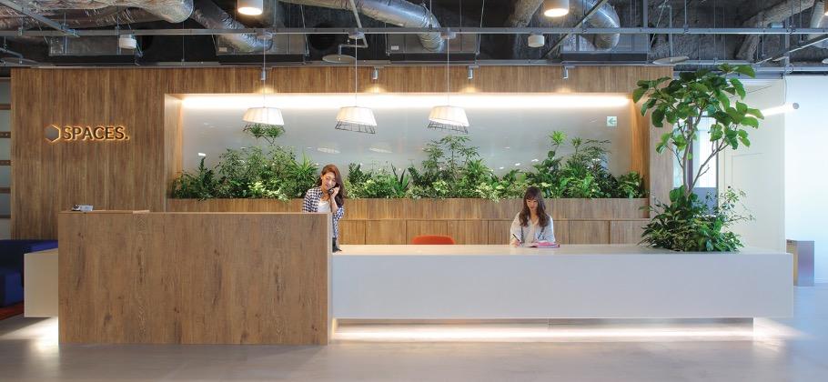 リージャスSPACES名古屋のオフィス内部の画像「フロント」