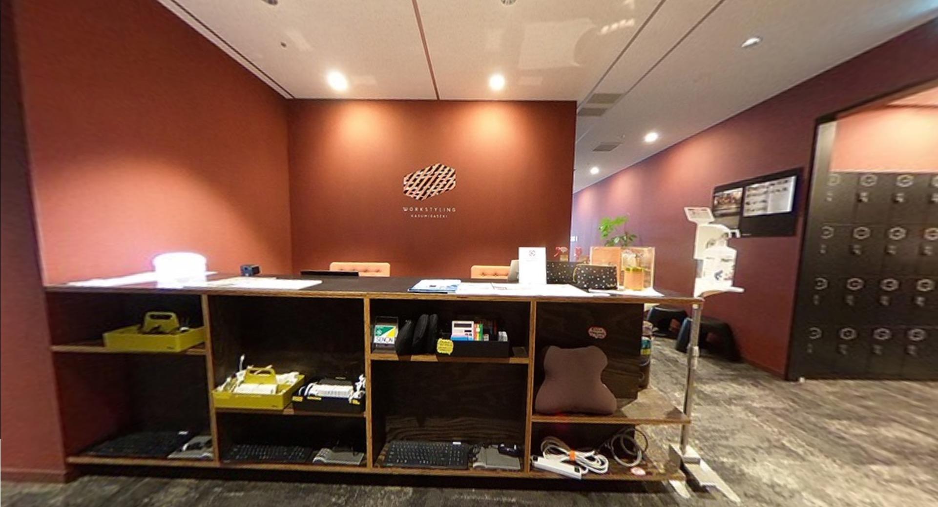 ワークスタイリング霞が関のオフィス内部の画像「フロント」