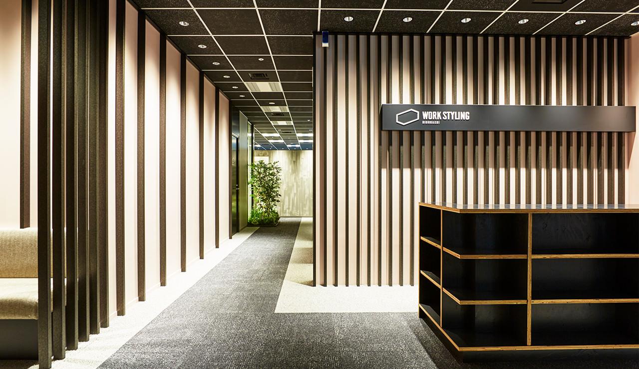 ワークスタイリング日本橋のオフィス内部の画像「フロント」